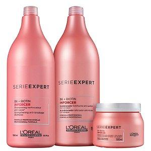 Kit L'Oréal Professionnel Inforcer Salão (3 Produtos)