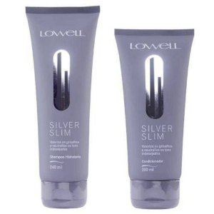 Kit Duo Shampoo e Condicionador Lowell Silver Slim