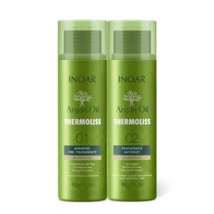 INOAR Thermoliss Argan KIT Shampoo e Tratamento Anti Frizz 900Gr