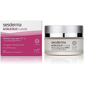 Sesderma Acglicolic Classic Creme Hidratante Antienvelhecimento FPS15 50ml