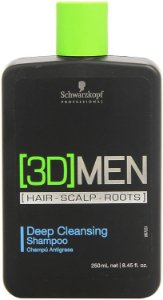 Schwarzkopf 3D Men Deep Cleasing - Shampoo Anti-Oleosidade 250ml