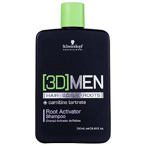 Schwarzkopf 3D Men Root Activator - Shampoo Ativador de Raízes 250ml