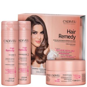 Kit Cadiveu Hair Remedy Reparador - Shampoo + Condicionador + Máscara Capilar