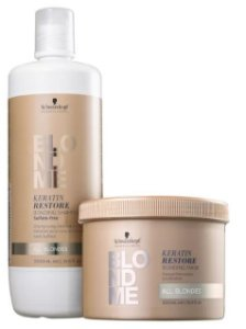 Kit BlondMe Cuidado Diário Shampoo e Máscara Schwarzkopf Professional
