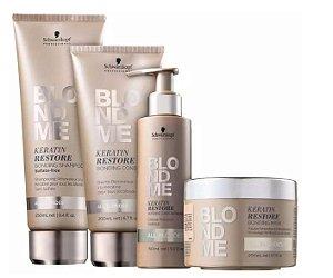 Kit BlondMe Shampoo + Condicionador + Máscara e Tratamento Pontes Schwarzkopf Professional