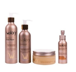 KIT Walory Power Repair - Shampoo + Condicionador + Mask 3 Minutes + Leave-in Shine Hair