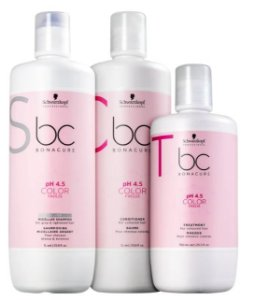 Kit BC Bonacure pH 4.5 Color Freeze Salon Trio Shampoo, Condicionador e Máscara Schwarzkopf