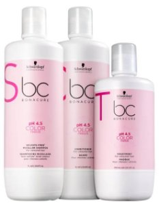 Kit BC Bonacure pH 4.5 Color Freeze Sulfate-Free Salon Shampoo, Condicionador e Máscara Schwarzkopf