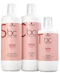 Kit BC Bonacure Peptide Repair Rescue Salon Trio Shampoo, Condicionador e Máscara Schwarzkopf