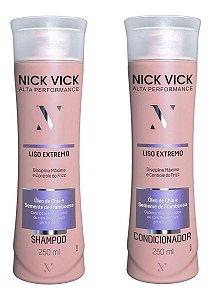 Kit Nick Vick Liso Extremo Shampoo e Condicionador 250ml (2 Produtos)