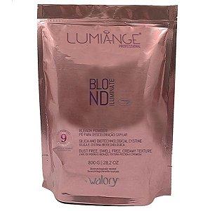 Walory Lumiange Blond Iluminate - Pó para Descoloração Capilar Azul 800g