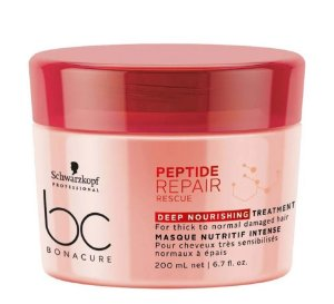 Schwarzkopf BC Bonacure Peptide Repair Rescue Deep Nourishing Treatment - Máscara de Nutrição 200ml