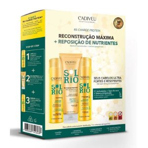 Kit Cadiveu Sol do Rio Home Care - Shampoo + Condicionador + Máscara