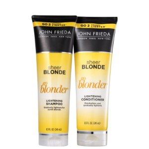 Kit John Frieda Sheer Blonde Go Blonder Lightening shampoo e Condicionador
