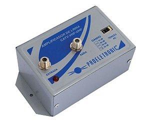 AMPLIFICADOR DE LINHA 30DB VHF/UHF PQAL-3000