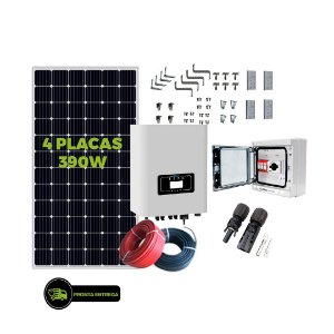 Kit Fotovoltaico 1,56KW - 4PL 390W + 01 INVER 1300W + CNCT