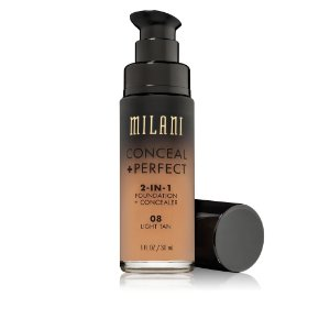 Milani Conceal + Perfect 2-IN-1 Foundation + Concealer Cor 08 LIGHT TAN