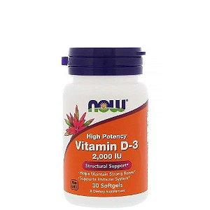 Vitamina D 3 2000UI 30 Softgels – NOW SPORTS