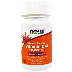 Vitamina D3 10,000 Ui 120 Softgels Now Foods