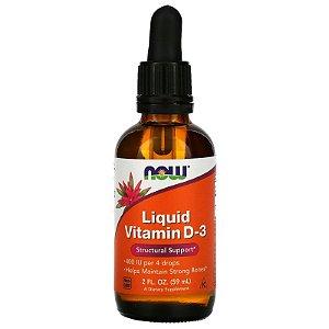 Vitamina D3 59ml Líquida  400ui Now Foods