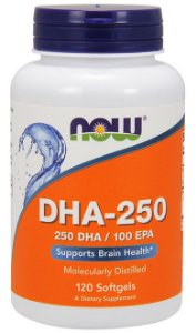 DHA-250 (120 Softgels) - Now Sports