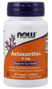 Astaxanthin 4mg (60 softgels) - Now Sports