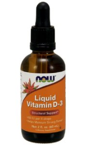 Liquid Vitamin D-3 400 UI (60ml) - Now Sports