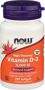 Vitamina D3 2000 IU  (240 softgels) - Now Foods