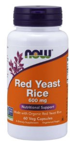 Red Yeast Rice - 600mg (60 Veg Caps) NOW Foods