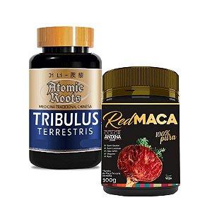 Kit Tribulus (1200mg) 120 Capsulas + Maca Peruana Red 100g