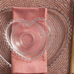 Conjunto de Xícaras para Chá Coração Cristal Wolff 180ml 4 peças