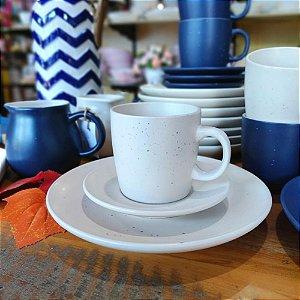 Conjunto de Xícaras para Chá Granilite Marfim 200ml 4 peças
