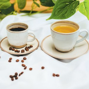 Conjunto de Xícaras para Café Porcelana Creme 115ml 4 peças