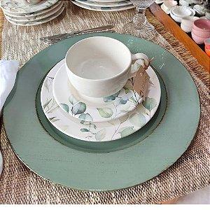 Conjunto Xícaras para Chá Eucalipto 283ml 6 peças