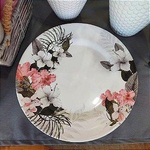 Conjunto de Pratos Rasos Floral Kira 29cm 6 peças