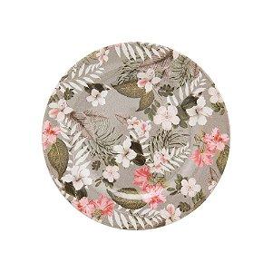 Conjunto de Pratos Sobremesa Floral Kira 20,5cm 6 peças