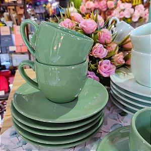 Conjunto de Xícaras para Chá Verde Alanya Eden 275ml 6 peças
