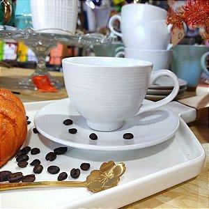 Conjunto de Xícaras para Chá Branca 195ml 4 Peças
