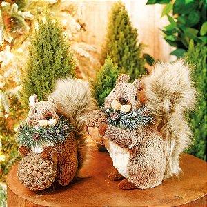 Esquilo de Natal Decorativo Tanzânia 25cm