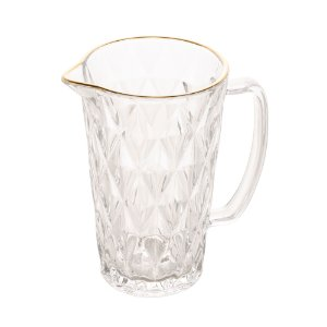 Jarra Vidro Transparente com Fio de Ouro 1 Litro Diamond
