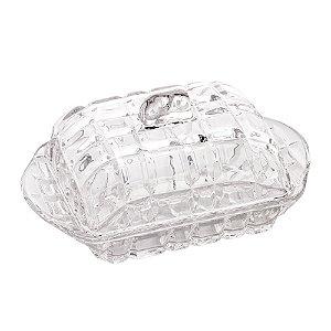 Manteigueira Cristal Transparente Deli 17 cm