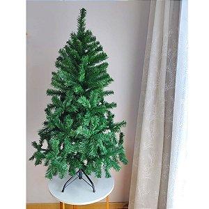 Árvore de Natal Cromus 1,20m 312 Galhos Base Metal Verde