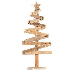 Árvore de Natal de Madeira Pinheiro Modern Zig Zag 78cm