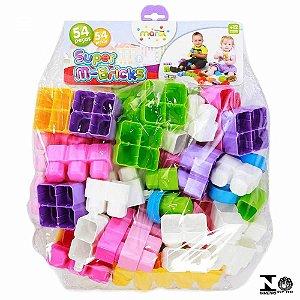 Blocos de Montar Super M-Bricks 54 Peças Menina - Maral