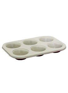 Forma Para 6 Cupcakes Revestimento Cerâmico - Mimo Style