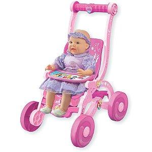 Carrinho de Boneca Princesa Disney - Lider