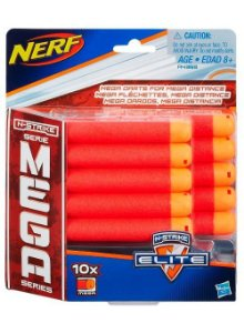 Refil 10 Dardos Nerf N-Strike Elite MEGA - Hasbro