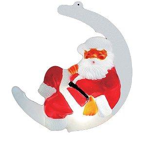 Boneco Papai Noel na Lua 54cm Iluminado - Taschibra