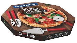 Conjunto para Pizza Tramontina 14 peças Preto