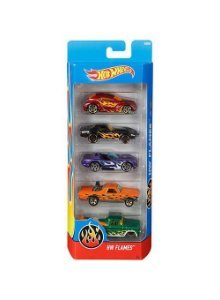 Pacote Com 5 Carros Hw Flames - Mattel